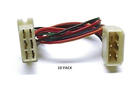 10 PACK 6 PIN LARGE LM Series Multi-Pin Connector Color-Coded 18 AWG Wire #6 LM