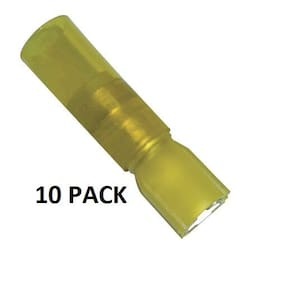 10 PACK INSULATED HEAT SHRINK FEMALE QUICK DISCON YELLOW 10-12GA #191640076-10PK