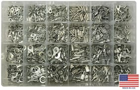 (1200) Non-Insulated Wire Terminal Uninsulated Connector Assortment Kit - USA