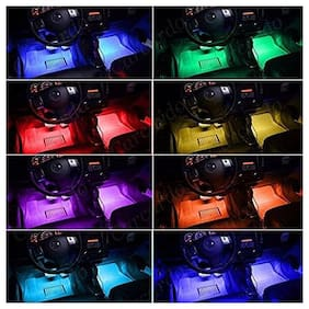 2 LED Multicolor Music Controlled Sound Activated Car Interior Atmosphere Light (works with all cars)