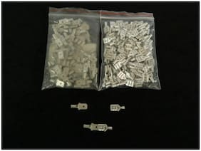 200 PK 10-12 GAUGE UNINSULATED QUICK DISCONNECT FEMALE MALE .250 100 PCS EACH
