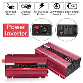 2000W Smart Car Solar Power Inverter DC 12V To AC 110V USB Sine Wave Converter