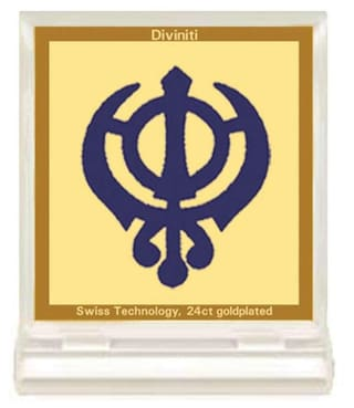 Buy 24ct Gold Encased Khanda Sahib Car Dashboard Frame By Diviniti