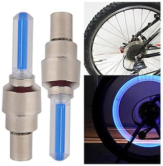 2pcs. Car and Motorcycle Blue LED Wheel Valve Cap Light (Assorted Colors )