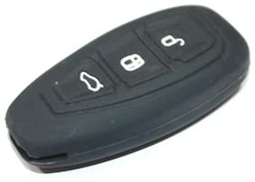 3 Button Smart Key Black Silicone Cover Fit For Ford Ecosport(For Push Button Start Only)