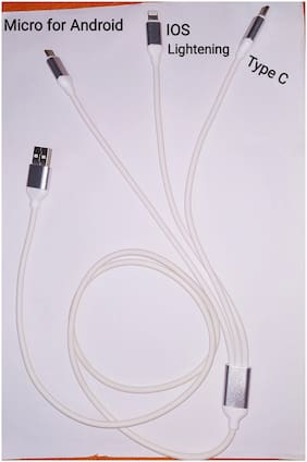 3-IN-1 FAST CHARGING DATA CABLE (MICRO, LIGHTENING AND TYPE C slot)