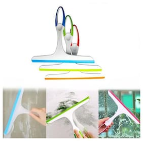 3 pcs. Car Wash Wiper Windshield and Kitchen Table & Platform Cleaning Wiper Soft Silicone Handle ( Assorted Color )