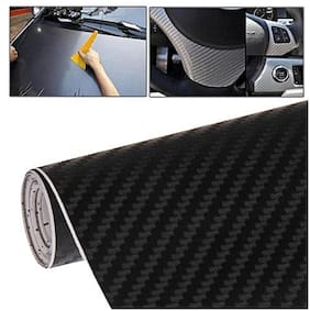 30.48 cm (12 Inch)x60.96 cm (24 Inch) 3d black carbonn vinly for car accessories car wrap for car sticker
