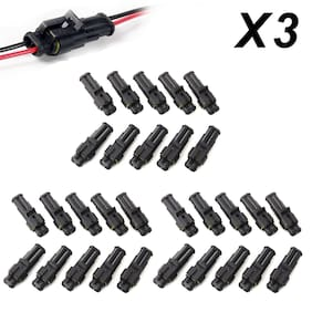 30pcs Super Seal Waterproof 2 Pin Way Electrical Wire Connector Plug For Car