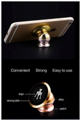 360 deg Rotating Car Phone Stand, Universal Magnetic Mount Holder For All Phone Sizes, Mobile-Daewoo Cielo
