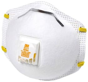 3M 8511 Particulate N95 Respirator Mask with Valve - Pack of 2