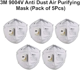 3M 9004V Particulate Respirator Anti Pollution Mask, (Pack of 5)
