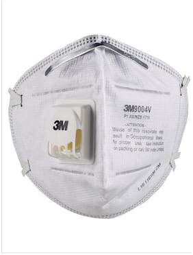 3M 9004V Particulate Respirator Pollution Protective Face Mask, White, (Pack of 6Pcs)