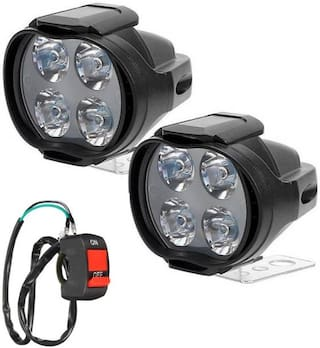 4 LED FOG LAMP SET OF 2 WITH SWITCH SL FOR BAJAJ PULSAR AS 150
