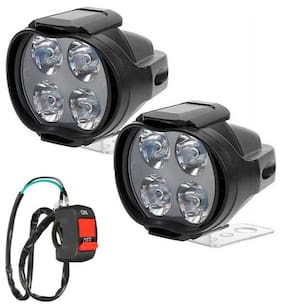 4 LED FOG LAMP SET OF 2 WITH SWITCH SL FOR HERO PASSION PRO