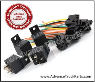 4 Pack 12V 30/40A 5-Pin SPDT Heavy Duty Sealed / Relay & Wire Harness Socket Set