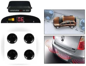 4 Reverse Car Parking Sensor Safety System With Led Display- Black Buzzer