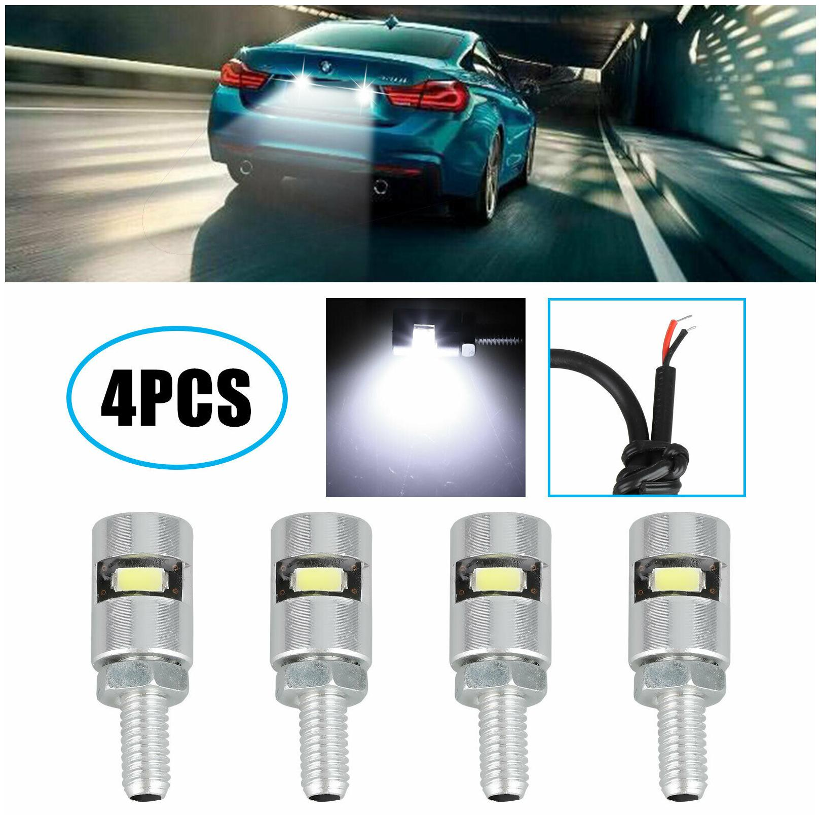 4x High Quality Motorcycle Screw SMD LED Bolt Lamp Car Auto License Plate Light