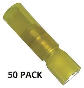 50 PACK INSULATED HEAT SHRINK FEMALE QUICK DISCONN YELLOW 10-12GA 191640076-50PK