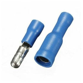 50 Pcs Blue Male Female Bullet Connector Crimp Terminals Wiring New