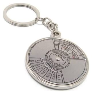 50 Year Calendar And Compass Date Perpetual Key Chain