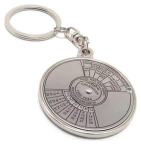 50 years Calender Key chain Locking Key Chain (Silver)