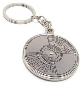 50 Years Calender Date Month Year Day Time Compass Keychain/Keyring (Pack of 1)