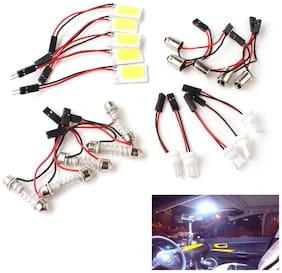 5pcs White COB 18-LED 12V Plate T10 Festoon Dome Car Interior Light Bulb