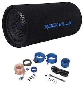 "6.5"" Powered Subwoofer Sub Bass Tube+MP3 Input+Amp Kit For Jeep Wrangler 87-06"