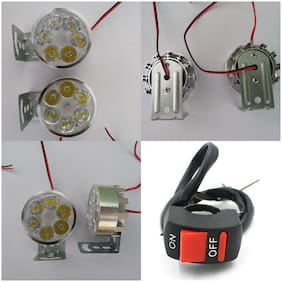 6 Led Headlight Fog Light For Motorcycle Bike Driving Head Lamp With On/Off Switch FOR HONDA DIO