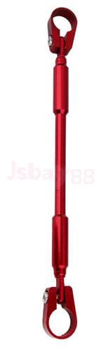"7/8"" 22 mm Universal Motorcycle Bike Aluminum Handlebar Brace Clamp Set, Rod (RED)"