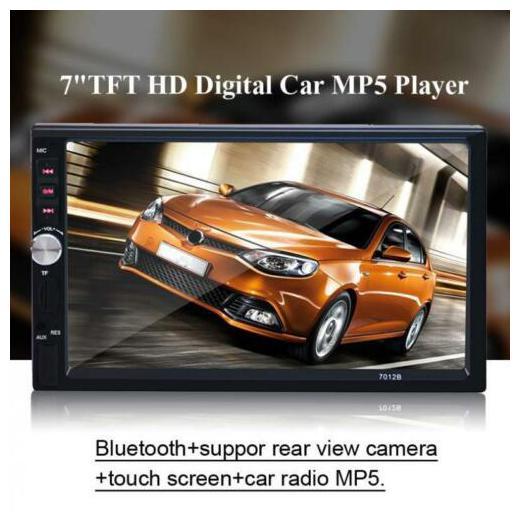 "7012B Bluetooth 7/"" 2DIN Car In Dash AUX FM USB Stereo Radio Music Player US BP"