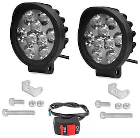 9 LED FOG LAMP SET OF 2WITH SWITCH CAP DESIGN FOR HERO GLAMOUR