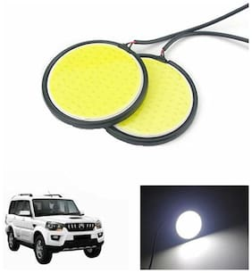 A2D 2.5inch Cobe White LED Lights Fog Light Car DRL Day Time Running Lights-Mahindra Scorpio