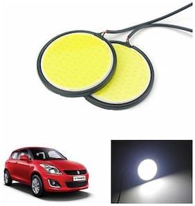 A2D 2.5inch Cobe White LED Lights Fog Light Car DRL Day Time Running Lights-Maruti Suzuki Swift