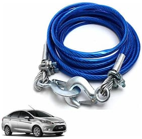 A2D 2 Ton Steel Towing Cable With Tow Hooks-Ford Fiesta