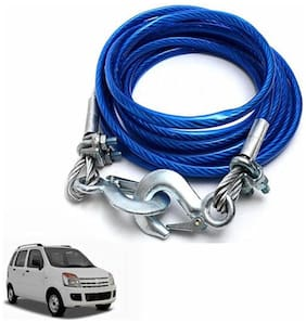 A2D 2 Ton Steel Towing Cable With Tow Hooks-Maruti Suzuki Wagon R