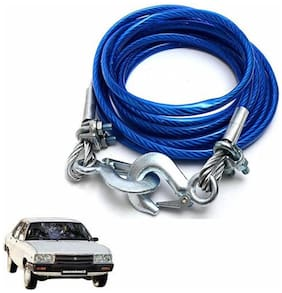 A2D 2 Ton Steel Towing Cable With Tow Hooks-Hindustan Motors Contessa