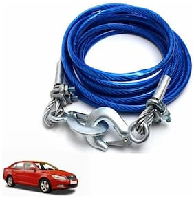 A2D 2 Ton Steel Towing Cable With Tow Hooks-Skoda Laura