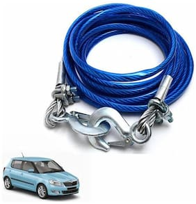 A2D 2 Ton Steel Towing Cable With Tow Hooks-Skoda Fabia