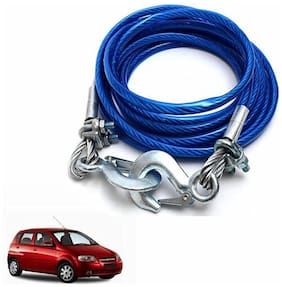 A2D 5 Ton Steel Towing Cable With Tow Hooks-Chevrolet Aveo U-VA
