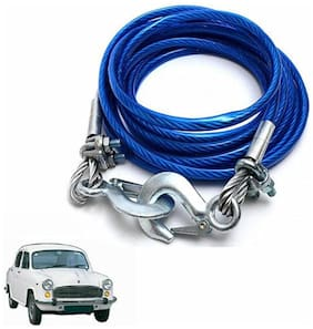 A2D 5 Ton Steel Towing Cable With Tow Hooks-Hindustan Motors Ambassador