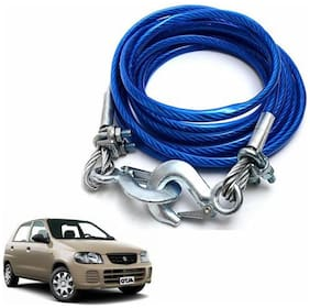A2D 5 Ton Steel Towing Cable With Tow Hooks-Maruti Suzuki Alto