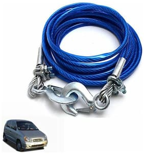 A2D 5 Ton Steel Towing Cable With Tow Hooks-Hyundai Santro