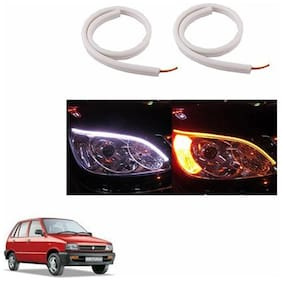 A2D Audi Style 60cm Flexi LED DRL With Turn Indicator Function Set Of 2-Maruti Suzuki 800