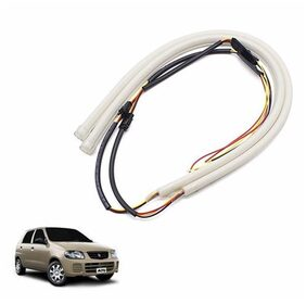 A2D Audi Style 30cm Flexi LED DRL White Set Of 2-Maruti Suzuki Alto