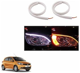 A2D Audi Style 60cm Flexi LED DRL With Turn Indicator Function Set Of 2-Tata Tiago