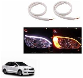 A2D Audi Style 60cm Flexi LED DRL With Turn Indicator Function Set Of 2-Skoda Rapid (2011-2014)