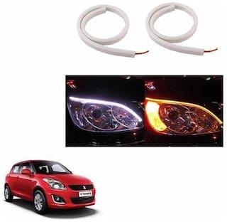 A2D Audi Style 60cm Flexi LED DRL With Turn Indicator Function Set Of 2-Maruti Suzuki Swift