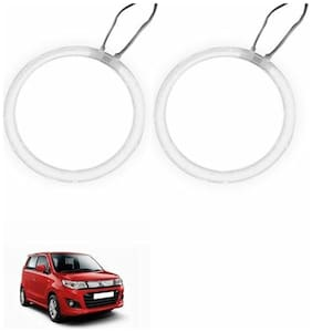 A2D Car BMW Style WHITE LED Angel Eyes Lights Set Of 2-Maruti Suzuki Wagon R Stingray